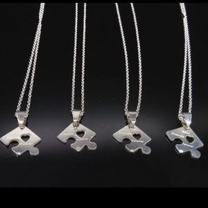 4 pcs | BFF Stainless Steel Necklace Set